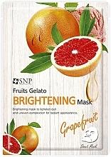 Düfte, Parfümerie und Kosmetik Aufhellende Tuchmaske für das Gesicht mit Grapefruitextrakt - SNP Fruits Gelato Brightening Mask