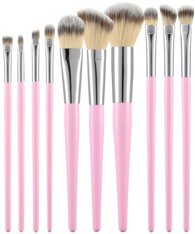 Make-up Pinselset rosa 10 St. - Tools For Beauty