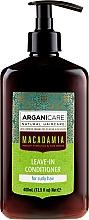 Düfte, Parfümerie und Kosmetik Haarspülung mit Macadamia für lockiges Haar ohne Ausspülen - Arganicare Macadamia Leave-In Conditioner