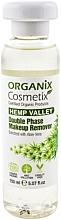 Düfte, Parfümerie und Kosmetik Zweipfasiger Make-up Entferner mit Aloe Vera - Organix Cosmetix Hemp Valley Double Phase Makeup Remover