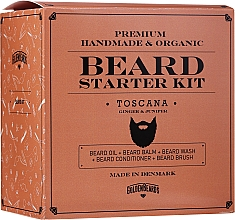 Düfte, Parfümerie und Kosmetik Bartpflegeset - Golden Beards Starter Beard Kit Toscana (Bartbalsam 60ml + Bartöl 30ml + Bartshampoo 100ml + Bartconditioner 100ml + Bartbürste)