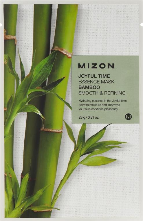 Tuchmaske mit Bambusextrakt - Mizon Joyful Time Essence Mask Bamboo