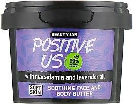 Düfte, Parfümerie und Kosmetik Gesichts- und Körperbutter mit Macadamia- und Lavendelöl - Beauty Jar Soothing Face And Body Butter