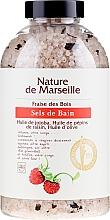 Düfte, Parfümerie und Kosmetik Badesalz mit natürlichen Ölen und Walderdbeerduft - Nature de Marseille