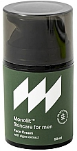 Düfte, Parfümerie und Kosmetik Feuchtigkeitsspendende Gesichtscreme für Männer mit Algenextrakt - Monolit Skincare For Men Face Cream With Algae Extract
