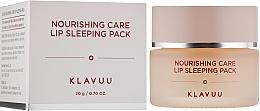 Düfte, Parfümerie und Kosmetik Lippenmaske für die Nacht - Klavuu Nourishing Care Lip Sleeping Pack
