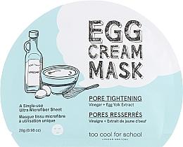 Düfte, Parfümerie und Kosmetik Tuchmaske für das Gesicht mit Ei-Albumin - Too Cool For School Egg Cream Mask Pore Tightening