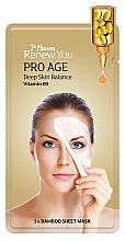 Düfte, Parfümerie und Kosmetik Feuchtigkeitsspendende, erneuernde und glättende Tuchmaske mit Vitamin B5 - 7th Heaven Renew You Pro Age Bamboo Sheet Mask