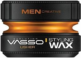 Düfte, Parfümerie und Kosmetik Stylingwachs mit starkem, langanhaltendem Halt und Glanz - Vasso Professional Hair Styling Wax Usher