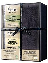 Düfte, Parfümerie und Kosmetik Seifenset - La Corvette Douceur Bio Gift Box (Seife 2x100g + Handtuch 1St.)