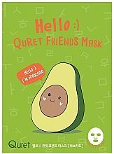 Düfte, Parfümerie und Kosmetik Nährende Tuchmaske für das Gesicht mit Avocadoextrakt - Quret Hello Avocado Friends Mask
