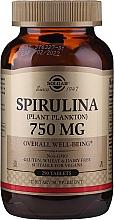 Düfte, Parfümerie und Kosmetik Nahrungsergänzungsmittel Spirulina mit antioxidativer Wirkung und zum gesamten Wohlbefinden - Solgar Spirulina Plant Plankton