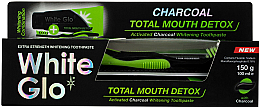 Düfte, Parfümerie und Kosmetik Zahnpflegeset - White Glo Charcoal Total Mouth Detox (Zahnpasta 150g + Zahnbürste)