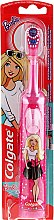 Düfte, Parfümerie und Kosmetik Elektrische Kinderzahnbürste weich Barbie rosa in weißen Punkten - Colgate Electric Motion Barbie