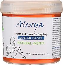 Düfte, Parfümerie und Kosmetik Zucker-Enthaarungspaste mit Minzduft - Alexya Sugar Paste Natural Menta