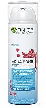 Düfte, Parfümerie und Kosmetik Feuchtigkeitsspendendes Gesichtsspray mit Granatapfel und Glycerin - Garnier Aqua Bomb Mist