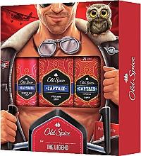 Düfte, Parfümerie und Kosmetik Duftset - Old Spice Capitain Aviator (Deodorant 150ml + After Shave Lotion 100ml + 2in1 Duschgel und Shampoo 50ml)