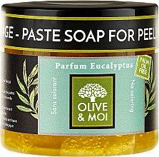 Düfte, Parfümerie und Kosmetik Schwarze Peelingseife mit Eukalyptusduft - Saryane Olive & Moi Savon Noir