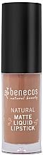 Düfte, Parfümerie und Kosmetik Flüssiger matter Lippenstift - Benecos Natural Matte Liquid Lipstick