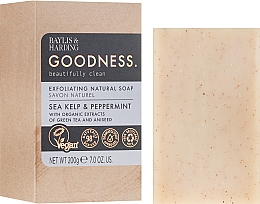 Düfte, Parfümerie und Kosmetik Naturseife Sea Kelp & Peppermint - Baylis & Harding Goodness Sea Kelp & Peppermint Exfoliating Natutal Soap
