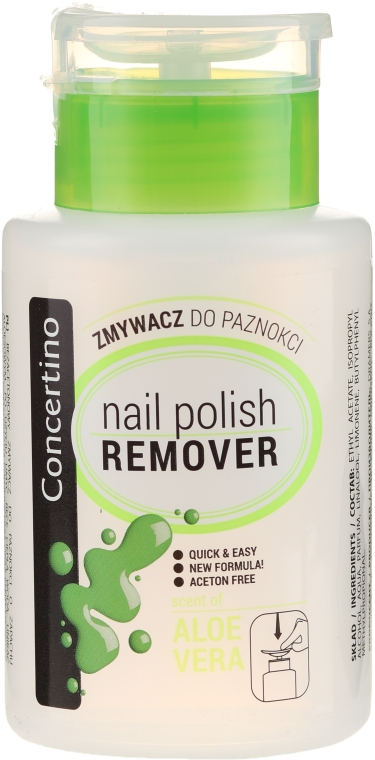 Acetonfreier Nagellackentferner mit Aloe-Extrakt und Vitaminen - Concertino Nail Polish Remover with Aloe Leaves Extract