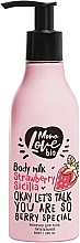 Düfte, Parfümerie und Kosmetik Pflegende Körpermilch mit Erdbeere - MonoLove Bio Strawberry Sicilia Body Milk