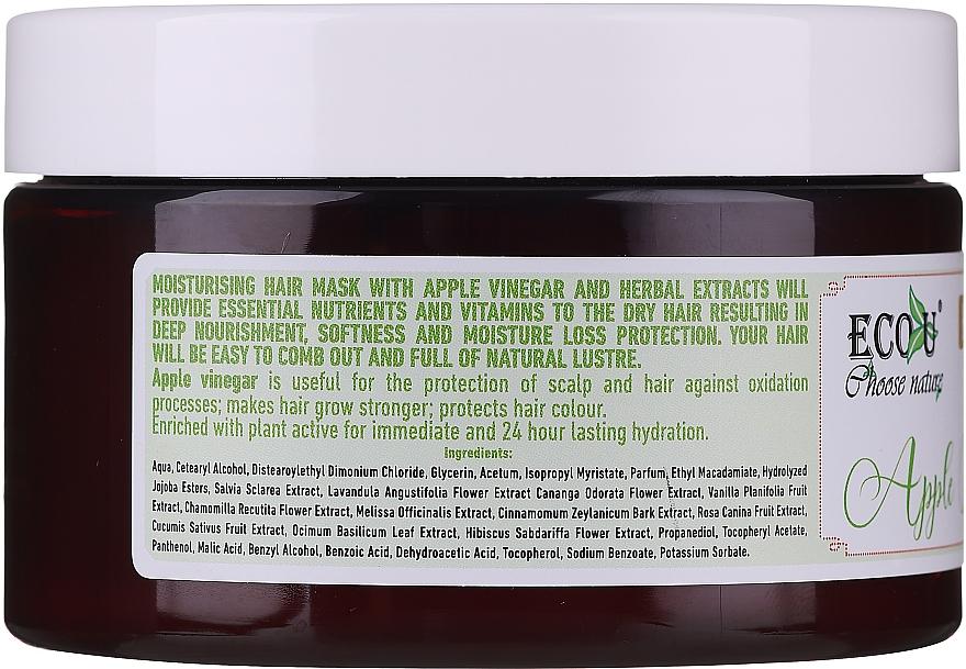 Haarmakse mit Apfelessig für trockenes Haar - ECO U Apple Vinegar Hair Mask For Dry Hair — Bild N3