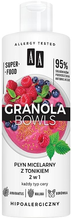 2in1 Mizellenwasser und Tonikum mit Amarantus, Himbeere und Heidelbeere - AA Granola Bowls Micellar Water And Tonic 2 in 1