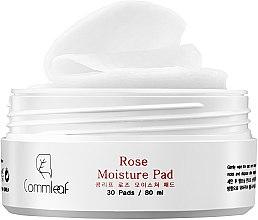 Feuchtigkeitsspendende Wattepads mit Damaszener Rosenwasser und Propolis - Commleaf Rose Moisture Pad — Bild N4