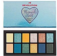 Düfte, Parfümerie und Kosmetik Lidschattenpalette - Makeup Revolution Mermaid's Heart Eyeshadow Palette