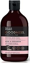 Düfte, Parfümerie und Kosmetik Natürlicher Badeschaum Rose & Geranium - Baylis & Harding Goodness Rose & Geranium Natural Bath Soak
