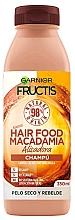 Düfte, Parfümerie und Kosmetik Veganes glättendes Shampoo für trockenes und widerspenstiges Haar mit Macadamiaöl - Garnier Fructis Hair Food Macadamia Smoothing Shampoo
