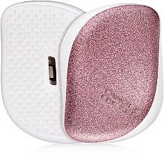 Düfte, Parfümerie und Kosmetik Kompakte Haarbürste - Tangle Teezer Compact Styler Glitter Rose
