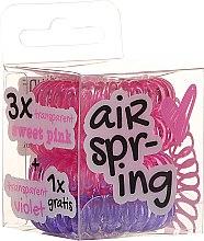 Düfte, Parfümerie und Kosmetik Haargummis rosa + lila 4 St. - Hair Springs