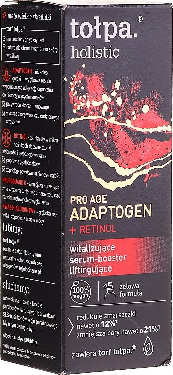Vitalisierender Gesichtsserum-Booster mit Lifting-Effekt - Tolpa Holistic Pro Age Adaptogen + Retinol