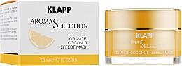 Düfte, Parfümerie und Kosmetik Vitalisierende Gesichtsmaske mit Orangen- und Kokosnussduft - Klapp Aroma Selection Orange-Coconut Mask