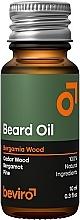 Düfte, Parfümerie und Kosmetik Bartöl mit Zedernholz und Bergamotte - Beviro Beard Oil Bergamia Wood