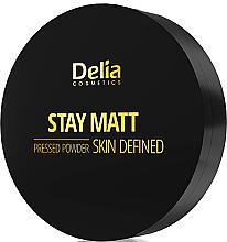 Düfte, Parfümerie und Kosmetik Gepresster Gesichtspuder mit Matteffekt - Delia Stay Matt Skin Defined Pressed Powder