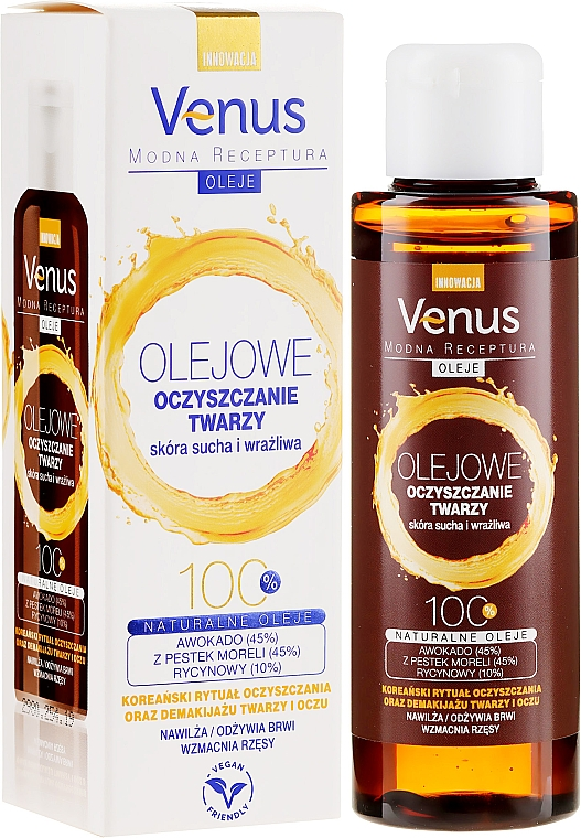 Gesichtsreinigungsöl für trockene und empfindlche Haut - Venus Cleansing Oil