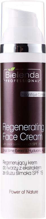 Regenerierende Gesichtscreme mit Hyaluronsäure und Schneckenschleimextrakt - Bielenda Professional Power Of Nature Cream SPF 15