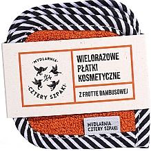 Düfte, Parfümerie und Kosmetik Wiederverwendbare Kosmetikpads aus Baumwolle und Bambus 5 St. - Cztery Szpaki