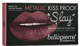 Düfte, Parfümerie und Kosmetik Make-up Set (Lippenkonturenstift 1.5g + Lippencreme 3.8ml + Lippencreme 9ml) - Bellapierre Kiss Proof Metallic Slay (Miami Glam)