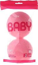 Düfte, Parfümerie und Kosmetik Badeschwamm-Set rosa 2 St. - Suavipiel Baby Soft Sponge