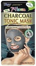Düfte, Parfümerie und Kosmetik Revitalisierende Detox Tuchmaske mit Aktivkohle und grünem Tee - 7th Heaven Charcoal Tonic Sheet Mask