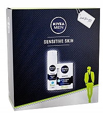 Düfte, Parfümerie und Kosmetik Männerset - Nivea Men Sensitive (Rasiergel/200ml + After Shave Balsam/100ml)