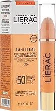 Düfte, Parfümerie und Kosmetik Augenkonturenbalsam Anti-Age SPF 50+ - Lierac Sunissime Protective Eye Care Anti-Age Global SPF50