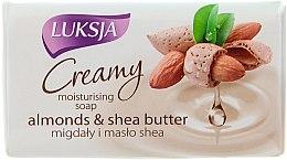 Düfte, Parfümerie und Kosmetik Feuchtigkeitsspendende Cremeseife mit Mandeln und Sheabutter - Luksja Creamy Almond Shea Butt Soap