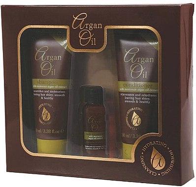 Haarpflegeset - Xpel Marketing Ltd Argan Oil (Shampoo 100ml + Haarspülung 100ml + Haaröl 30ml)