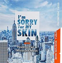 Düfte, Parfümerie und Kosmetik Feuchtigkeitsspendende Peeling-Maske für das Gesicht in 2 Schritten - Ultru I'm Sorry For My Skin Peeling Pad & Moisture Mask