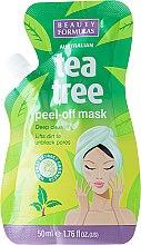 Düfte, Parfümerie und Kosmetik Peel-Off Gesichtsmaske mit Teebaum - Beauty Formulas Tea Tree Peel-Off Mask